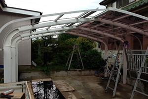 カーポート屋根張替修理